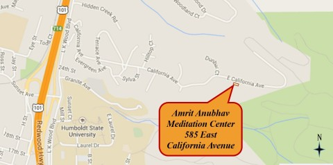 Map to meditation center